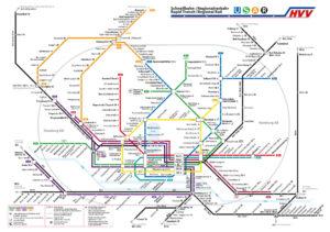 Hamburg Liniennetz für Mikroabenteuer